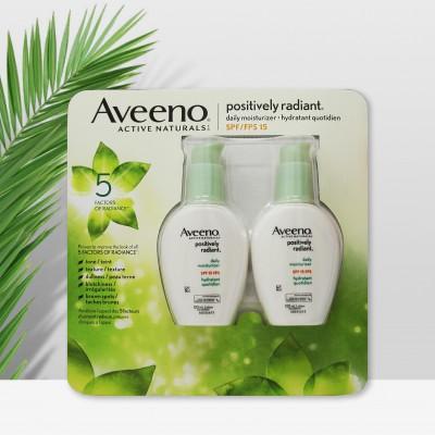 Aveeno艾维诺大豆精华保湿防晒乳液2瓶装SPF15孕妇可用