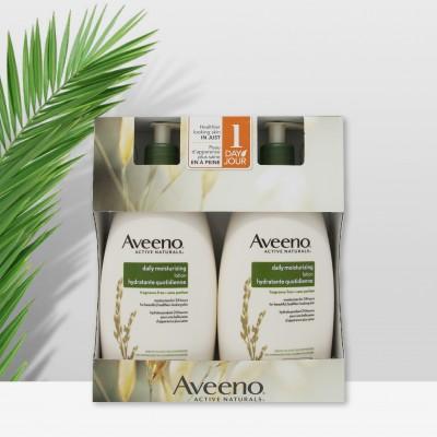 艾维诺Aveeno天然燕麦保湿润肤乳 保湿润肤600ml 组合装 600毫升*2