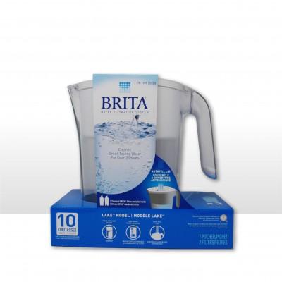 Brita过滤水壶(净水壶)10 杯容量(送2个芯,白色壶把)