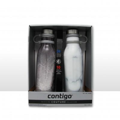 加拿大代购Contigo康迪克保热保冷 水杯防漏保温杯591ml*2