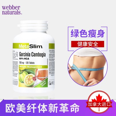 Webber Naturals美纤藤黄果精华脂肪阻断剂120粒纤体瘦身减肥