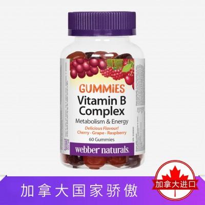 Webber Naturals伟博天然复合维生素B族软糖 60粒保质期20/11/30