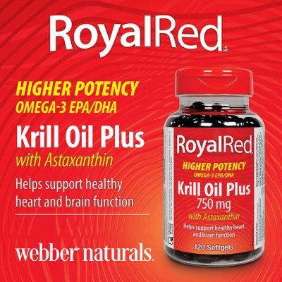 Webber Naturals RoyalRed®磷虾油Plus 750毫克