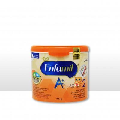 美赞臣2段550g婴儿奶粉enfamil A+二段添加益生菌