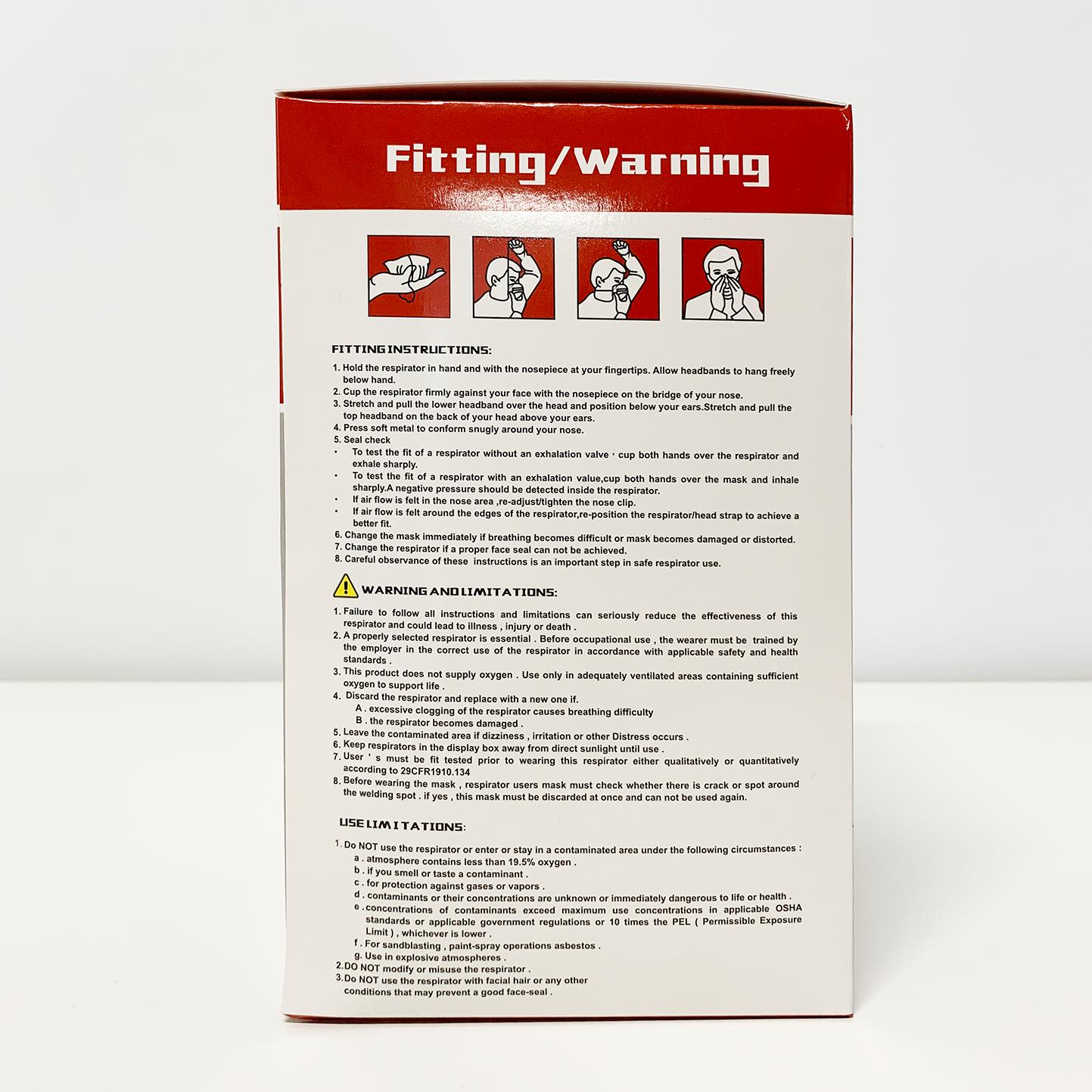 哈雷N95口罩(20个/盒)名牌高质量NIOSH认证