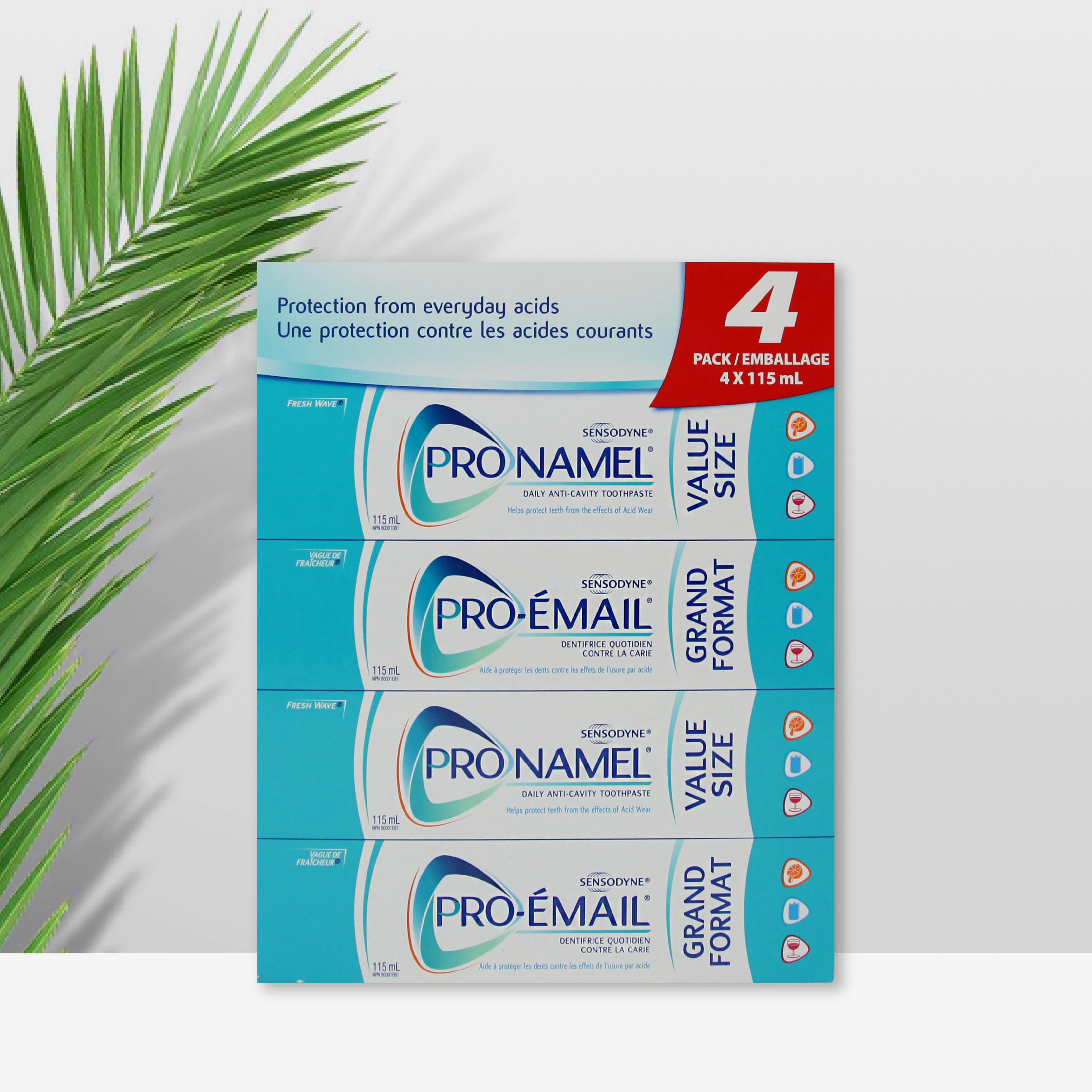 SENSODYNE舒适达牙膏含氟防酸腐蚀115ml*4超值4支装