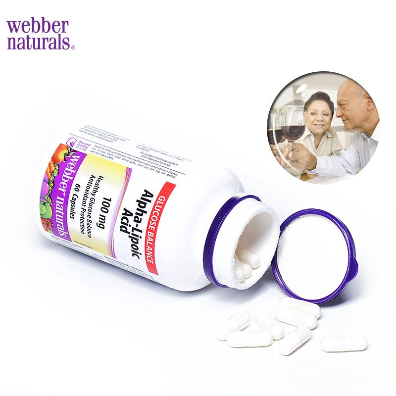 Webber Naturalsα-硫辛酸60粒降糖护胰岛抗糖化