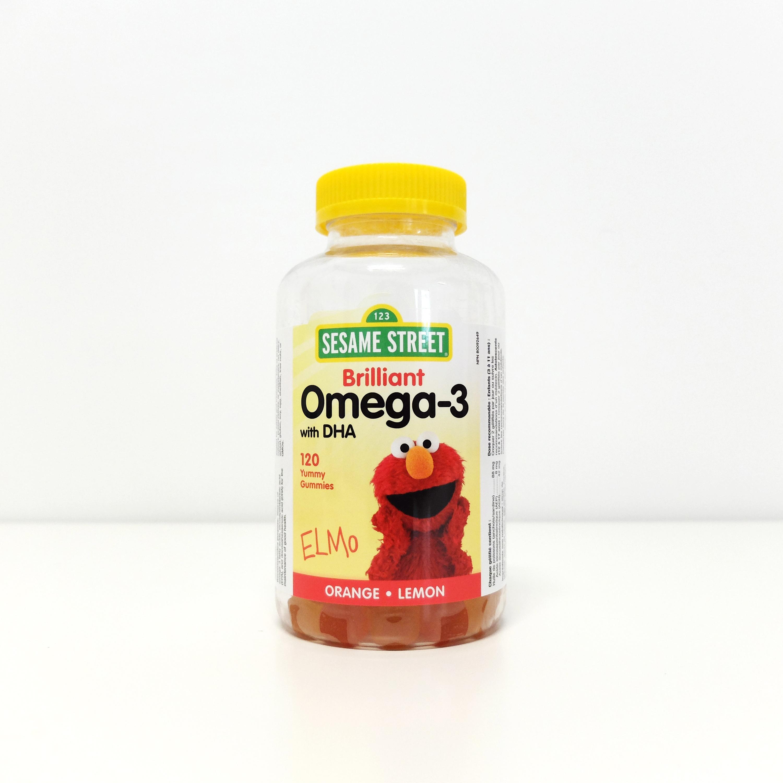 伟博芝麻街卓越儿童Omega-3 DHA软糖120粒补脑益智聪明大脑