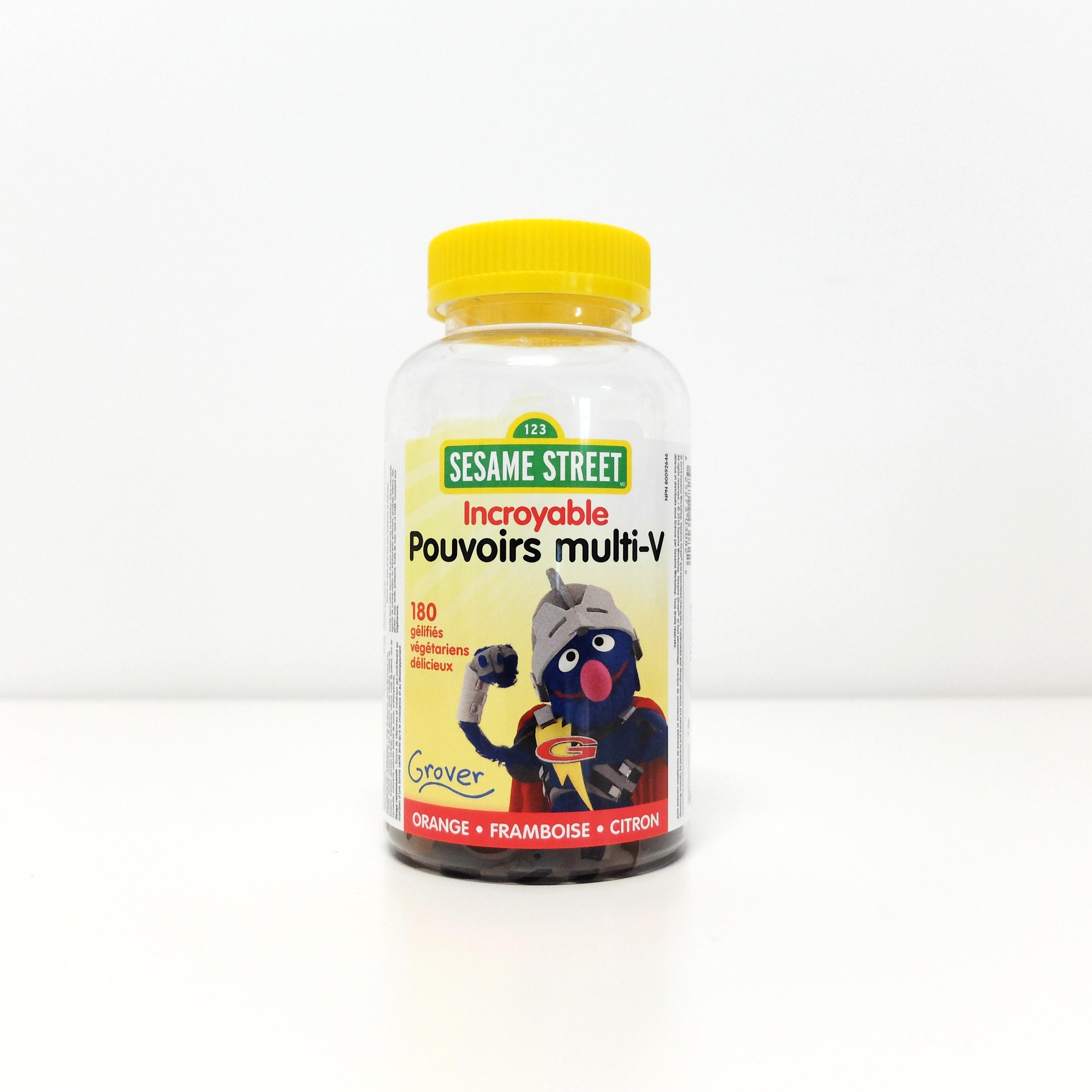 伟博芝麻街神奇力量儿童多种维生素软糖180粒补锌补碘生长必须